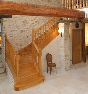 nos escaliers en bois escaliers 51. Black Bedroom Furniture Sets. Home Design Ideas